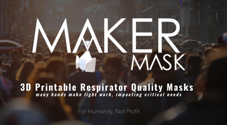 口罩自己就可做!美國公司 Maker Mask 推出 3D 列印口罩!3D 列印設計圖提供大家免費下載使用!