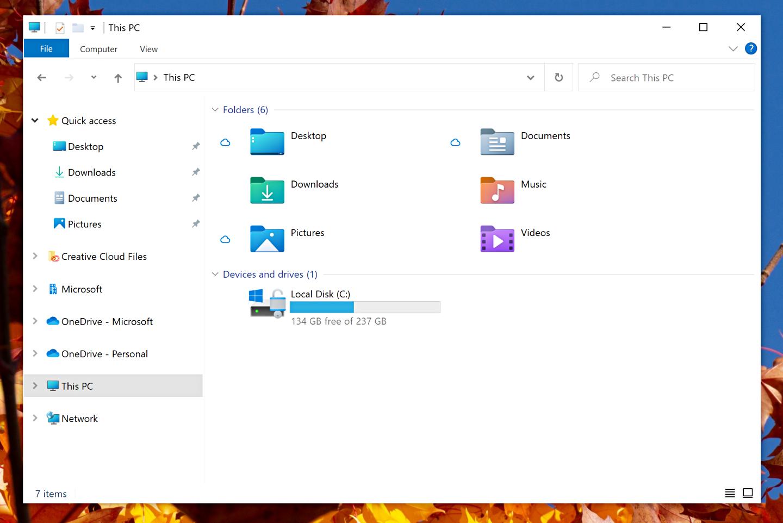 微軟 Window 10 新款使用介面曝光!檔案總管資料夾顏色變繽紛了,並同步新增特定圖示