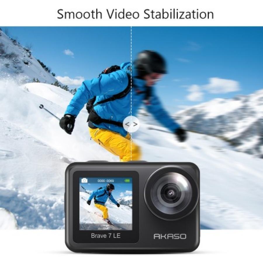 運動相機新兵!AKASO Brave 7 LE 具備電子防震、支援 4K 攝影,售價五千台幣有找