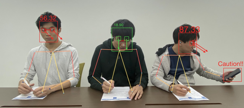 作弊偵測器!日本研發 AI 智能來監考,判斷頭手動作還有視線傾斜數據就能抓作弊!